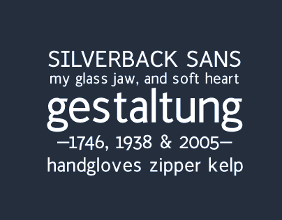 Silverback Typeface