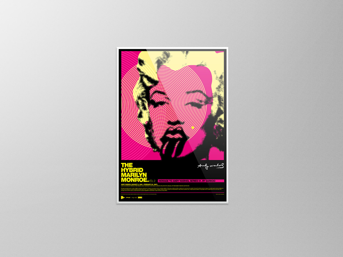 Homage to Andy Warhol poster series