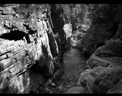 Ausable Chasm - Black and White Studies