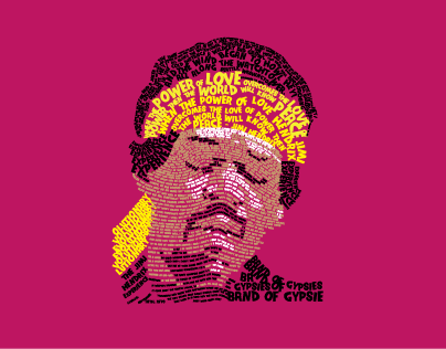 Hendrix Typographical Portrait