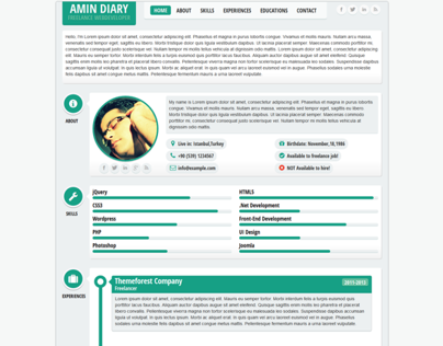 FLATTY CV - Responsive Resume Template