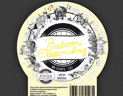 Fröccsös wine label