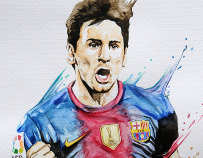 Messi Watercolour