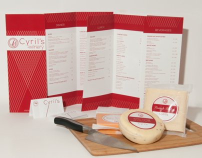 Clay Pigeon Winery and Cyrils Restaurant Branding