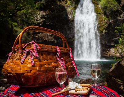 Champagne Picnic at Potem Falls