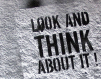 Look and Think About It! [Street Art Brochure]