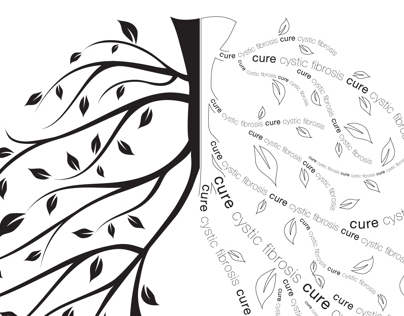 Cure Cystic Fibrosis logo design