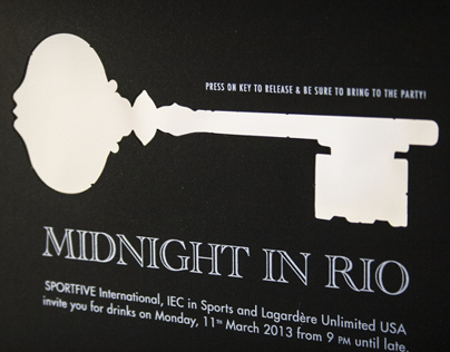 Midnight in Rio Party Invitation