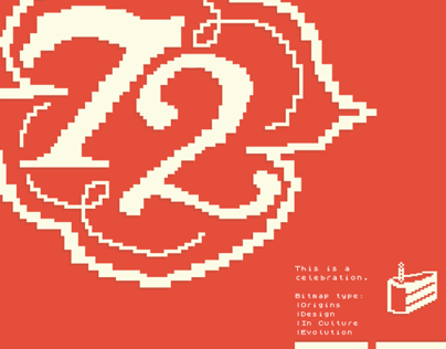 72 A celebration of Bitmap Typography