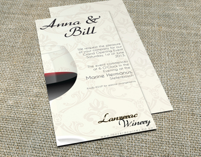Winery Invitation Card