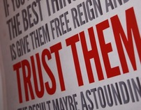 Always Trust The Designer - Typography Poster