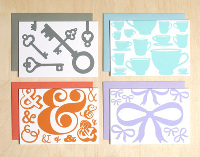 Silkscreened Greeting Cards