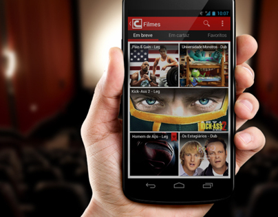 Cinemark app for Android Redesigned
