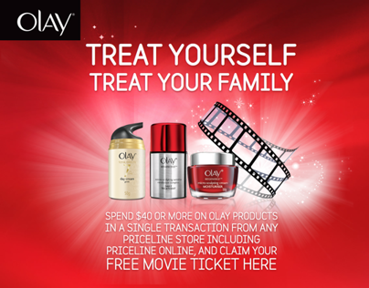 Olay Movie Ticket Promo Design
