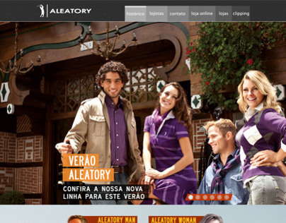 Personal Work - Website design - Aleatory