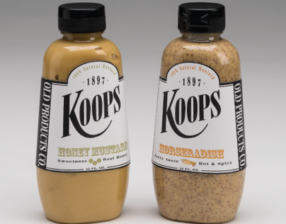 Redesign Koops Mustard Label