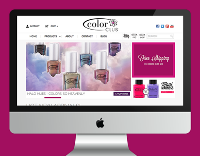 Color Club - Web Design, E-commerce