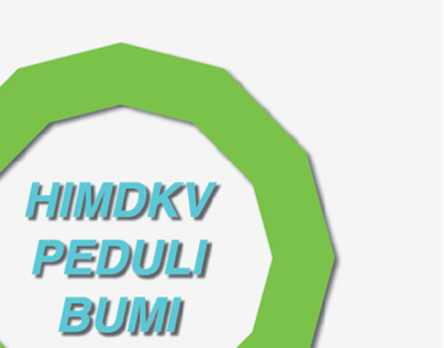 poster editorial design | HIM DKV peduli bumi
