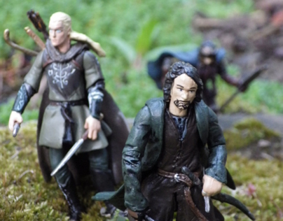 Close up pictures of Lord of the Rings figures