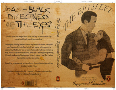 The Big sleep book cover - competition project