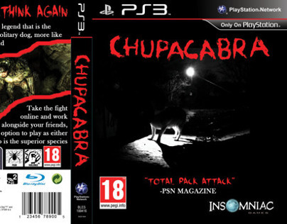 Playstation 3 game case design - Chupacabra