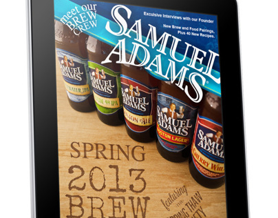 Sam Adams Catalog for Tablet Design