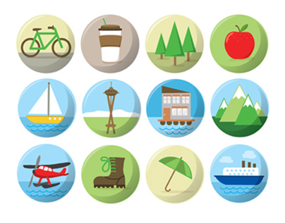 Free Seattle Icons & Landmarks