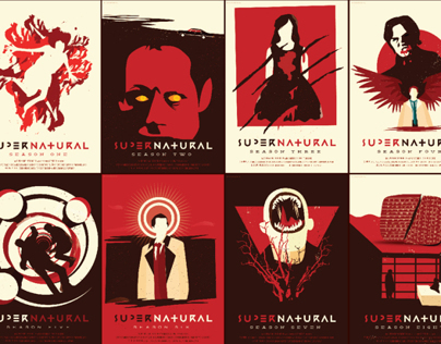 Supernatural Reimagined Season Posters