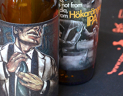 Björn Öberg - Beer label design & illustration