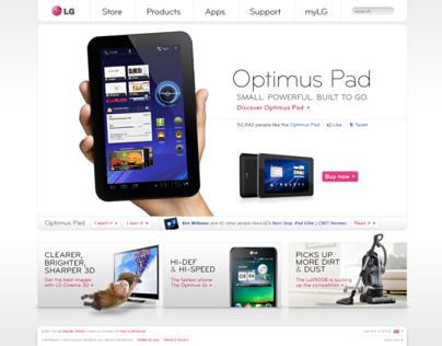 LG Website Redesign Concept