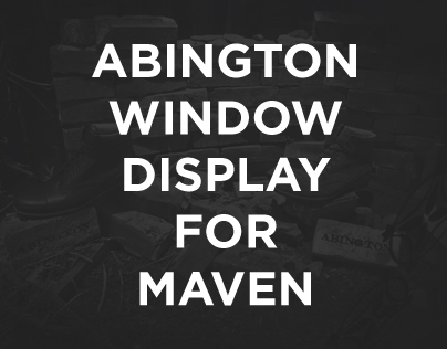 Abington Window Display for Maven