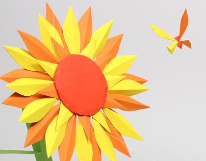 Flower & butterfly - paper craft