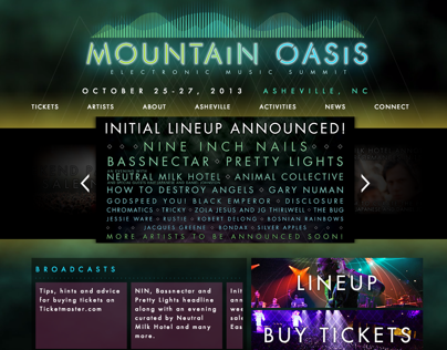 Mountain Oasis Festival Website