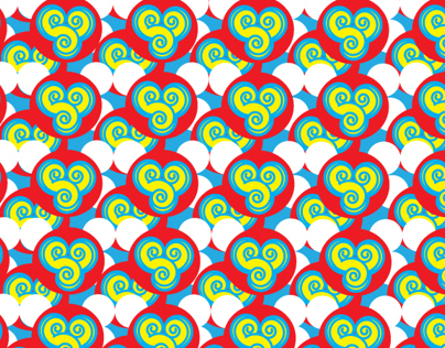 Shoujo spin cute animal pattern