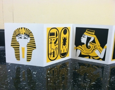 Cut Paper Book - King Tut