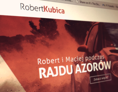 Robert Kubica website concept