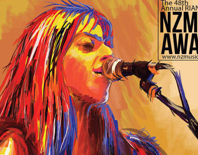 Digital Painting for NZ Music Awards