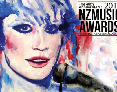 Water colour painting for NZ Music Awards