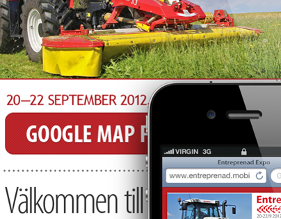 Entreprenad Expo Sweden mobile site