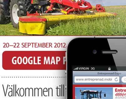 Entreprenad Expo Sweden mobile site