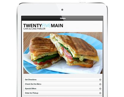 Twenty Five Main app design