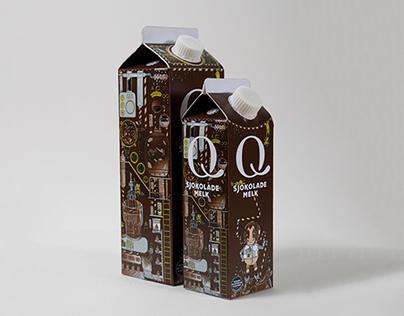 Q-Chocolate Milk Packaging