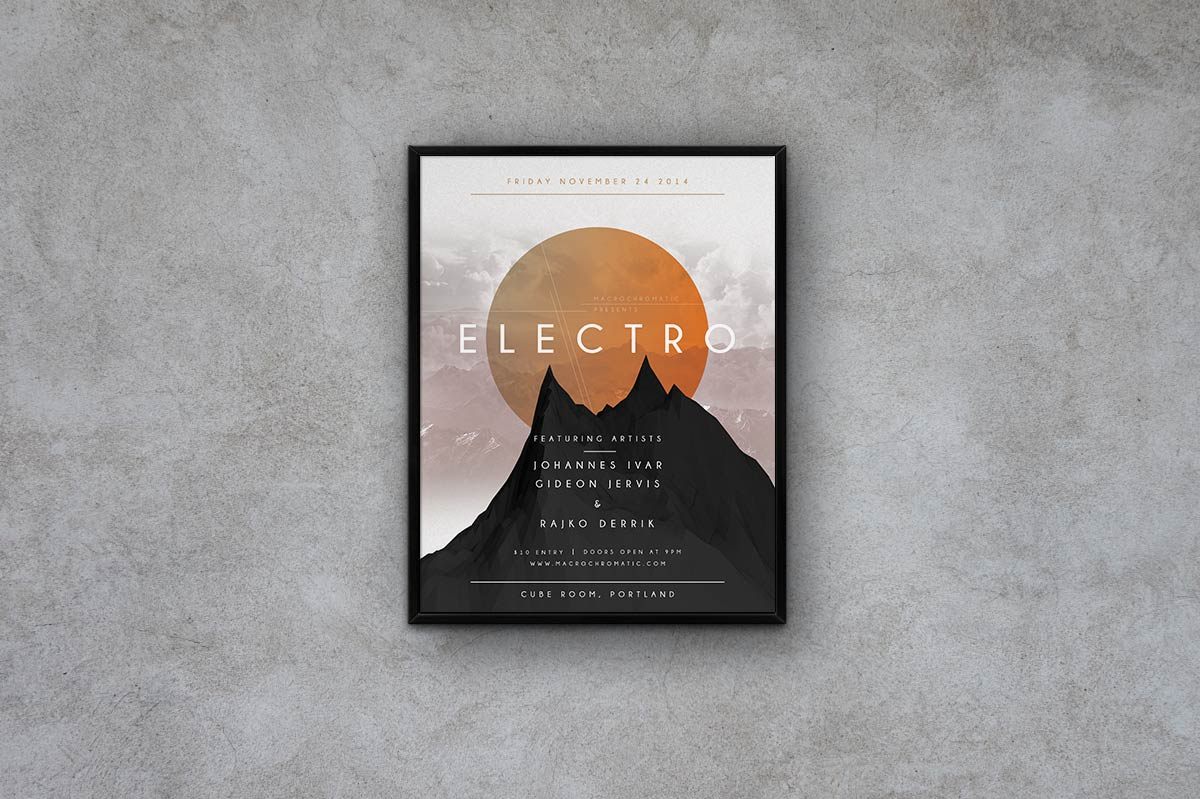 Geometric Concert - Flyer Template