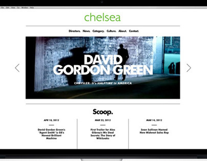 Chelsea Pictures web site design