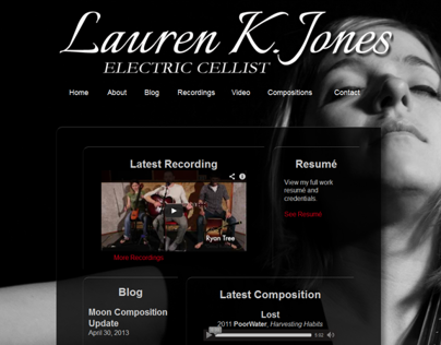 Lauren K. Jones: Electric Cello Website