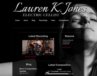 Lauren K. Jones: Electric Cello Website