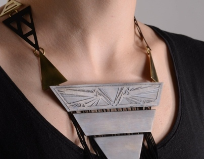 Contemporary Art Deco Necklace