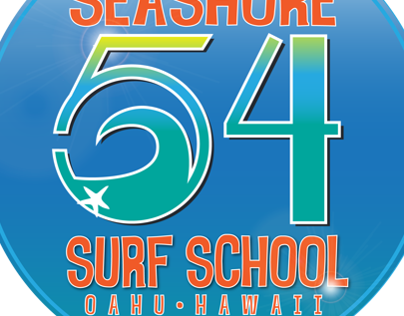 Seashore 54 Surf School Logo mockup