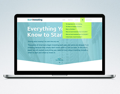 StartInvesting - One Page Layout
