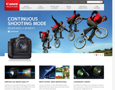 Canon - Features Website